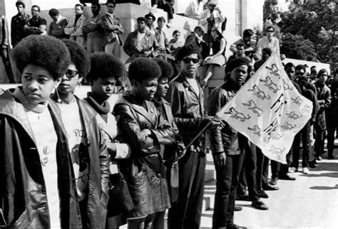 black panther movement 1960s black panther party members show photograph by everett