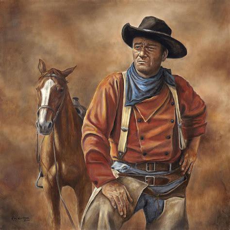 film cowboy john wayne searching fine art print kim lockman art work