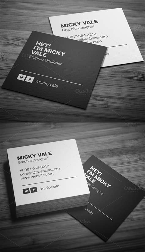 Business Cards Psd Templates Design Graphic Design Junction Square Business Card Template Free