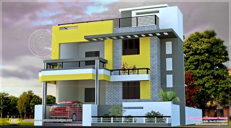 india house plan in the modern style house design plans