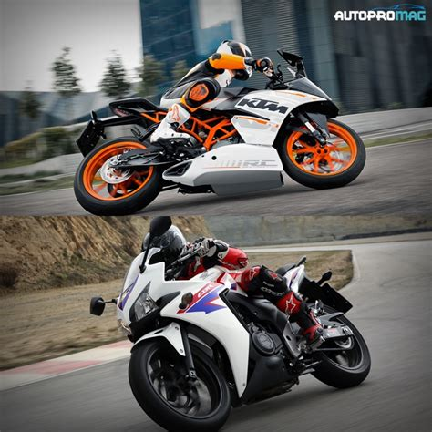 ktm vs honda the honda cbr500r vs the ktm rc390 specs performance
