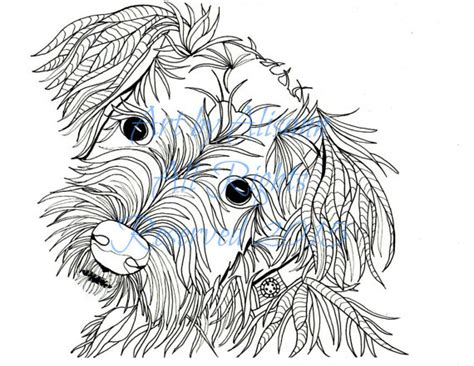 schnauzer puppy coloring page schnauzer love dogs digital download coloring books for