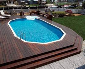 40 Uniquely Awesome Above Ground Pools With Decks In Ground Swimming Pool Designs