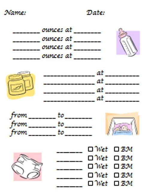 Infant Daily Sheet Template by Day Care Daily Report Sheets Last Edited By Michael 03