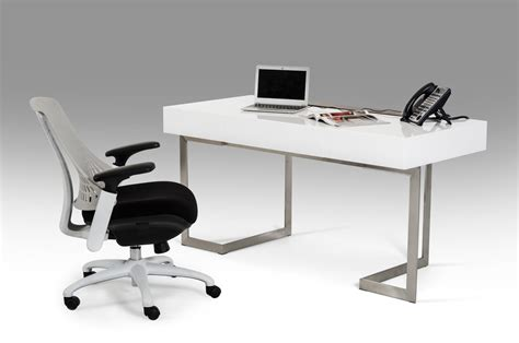 Office Desk White Sharp Modern White Office Desk
