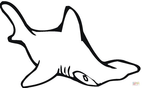 shark head coloring page hammerhead shark 2 coloring online super coloring