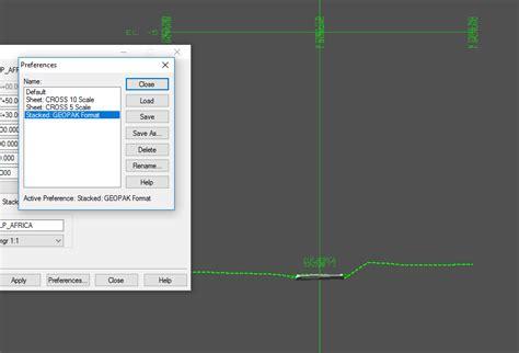format file gpk corridor modeling cross section creation gpk cells not