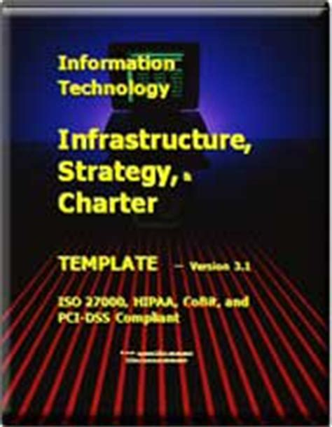 It Infrastructure Strategy And Charter Template Updated For Pci Dss Pci Charter Template