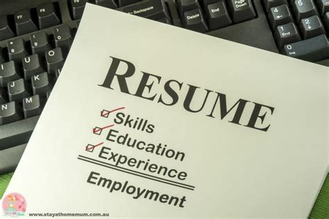 ten things not to put on your resume stay at home