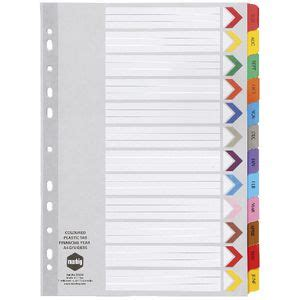 oxford index card tab template marbig reinforced a4 financial year tab divider officeworks