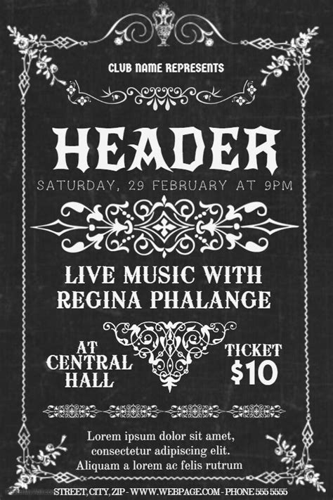 free templates for vintage flyers 85 best band and concert posters images on pinterest