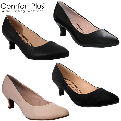 comfortable heel shoes comfort plus ladies kitten heel womens casual formal wide