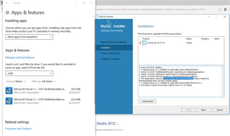 installing xp with mysql already installed windows 10 mysql server install fails when the latest