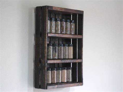 Large Wooden Spice Racks Wall Mounted Crate Spice Rack Or Knick Knack Display Wall Hanging