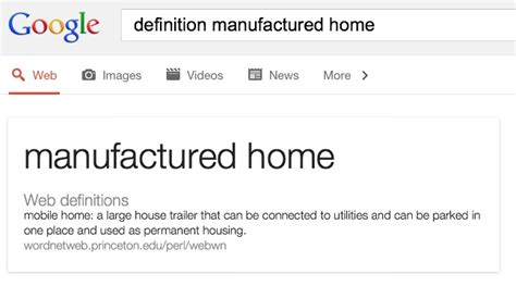 princeton s manufactured housing definition