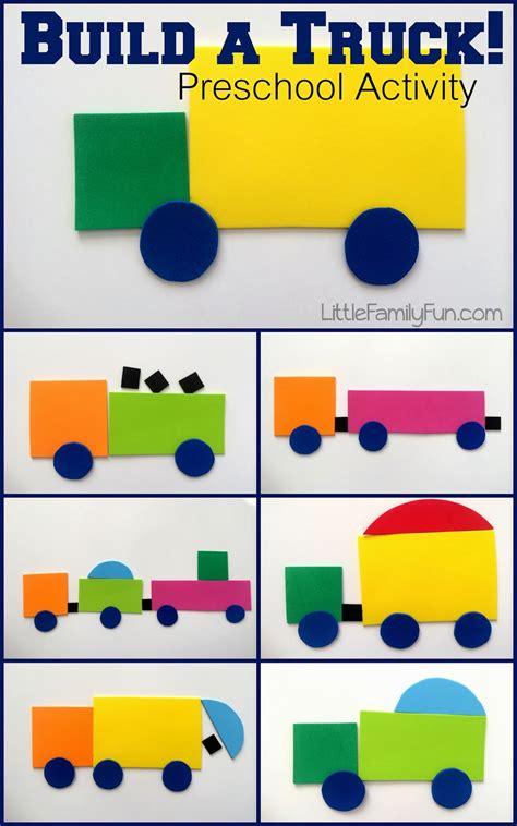 little family fun shape house educational craft little family fun build a truck