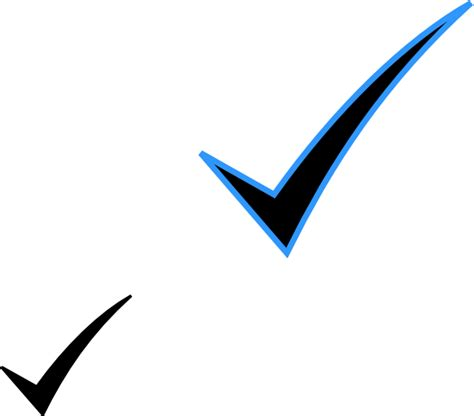 Black Checked black check clip at clker vector clip
