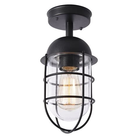 Cari 1 Light Caged Outdoor Lantern Black From Litecraft Patio Light Bulbs