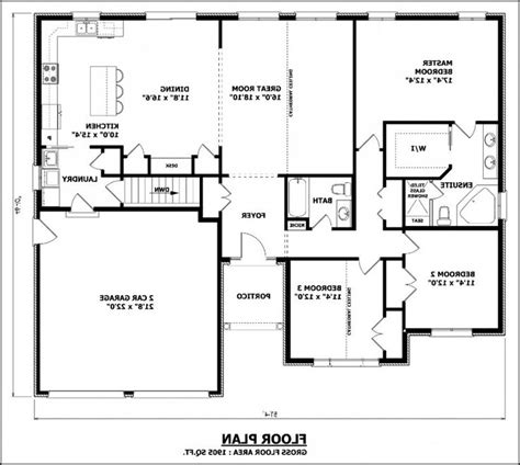 dining room floor plans house plan no formal dining room floor plan without