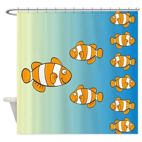 clown fish shower curtain cute clown fish designer shower curtain by stolenmomentsph