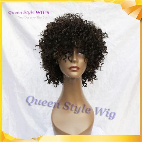 afro kinky fringe styles trendy fringe style short afro kinky curly hair wig