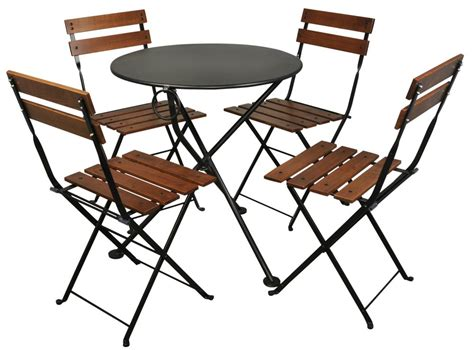 Patio Bistro Table And Chairs Furniture Designhouse Caf 233 Bistro 3 Leg Folding Bistro Table Jet Black