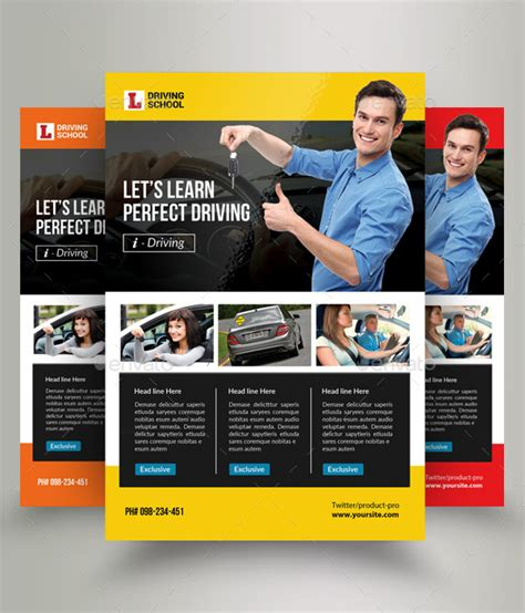 brochure templates drive 21 driving school flyer templates free premium