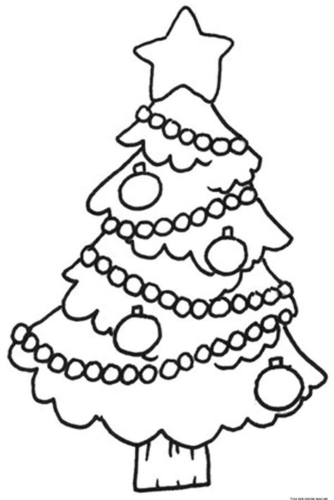 Decorated Tree Coloring Page Printable Decorated Christmas Tree Pictures Coloring In