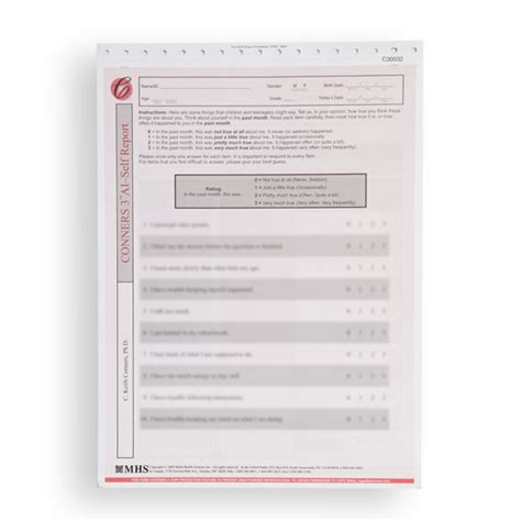 Conners 3 Report Template Conners 3 Adhd Index Ai Self Report Forms