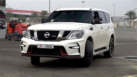nissan patrol nismo silver 2017 nissan patrol nismo doing 1 4 mile drag race youtube