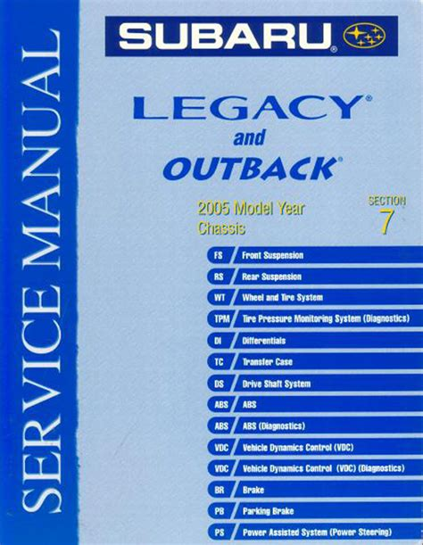 book repair manual 1998 subaru legacy security system subaru books manuals from books4cars com