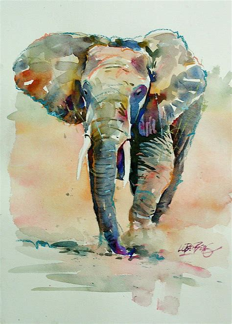 watercolor elephant tutorial watercolor elephant painting www imgkid com the image