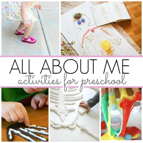 theme about activities for all about me theme pre k pages