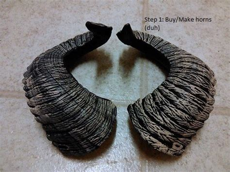 How To Make Paper Mache Horns - so this really isn t a step by step tutorial because i