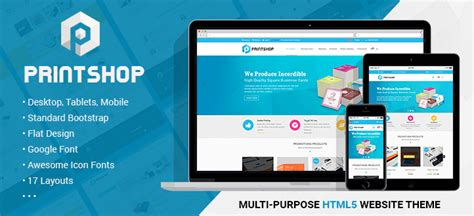 Printshop Responsive Html Printing Template By Netbaseteam Themeforest Printing Website Template