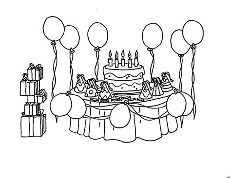 birthday decorations to draw image inspiration of cake