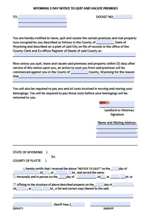 serving notice to tenants template 11 serving notice to tenants template eviction letter