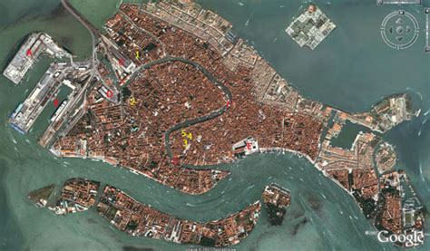 5 themes of geography venice italy venice map