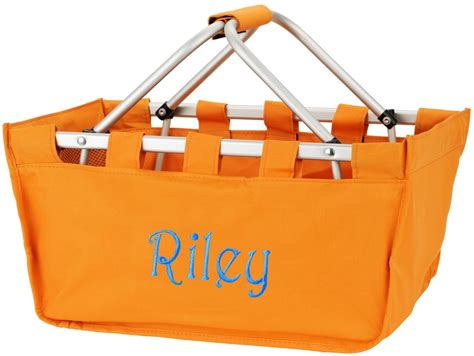market utility tote large basket bag personalized