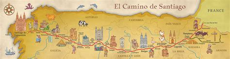 El Camino Map by Camino De Santiago