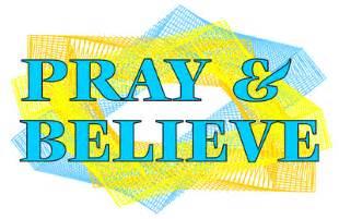 Pray amp believe free christian clipart