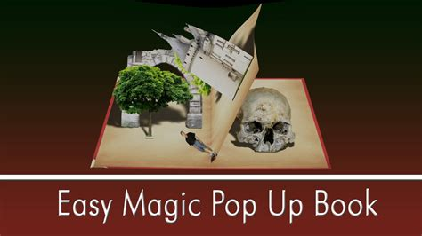 how to make a pop up book report easy magic pop up book in ae