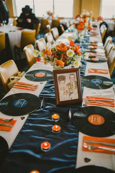 schallplatten dekoration retro wedding rock n roll theme record albums as