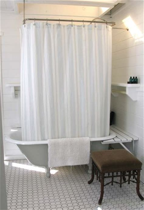 shower curtain holder for clawfoot tub claw foot tub with shelves around katy elliott
