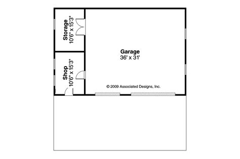 Garage Shop Floor Plans Traditional House Plans Garage W Shop 20 050