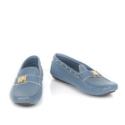 loafers louis vuitton louis vuitton suhali studded driving loafers 37 blue 26752