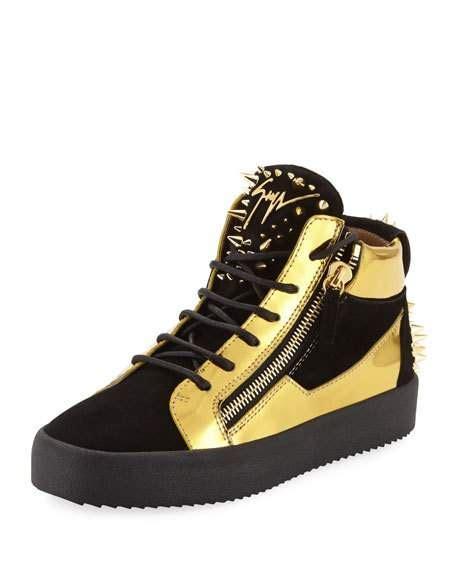 giuseppe zanotti mens shoes giuseppe zanotti s studded suede metallic leather