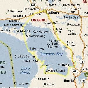 georgian bay canada map georgian bay ontario canada circle drive by ontarioguide