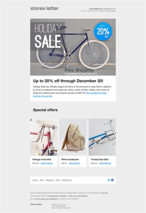 sell html templates storesletter html email marketing template to sell by