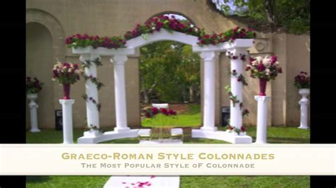 Wedding Columns, Empire Columns, and Colonnades   YouTube